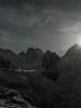пейзаж у лагеря хижина Рацека в лунном свете