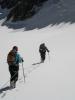 идем связками по Аксайскому леднику (альплагерь Ала-Арча)