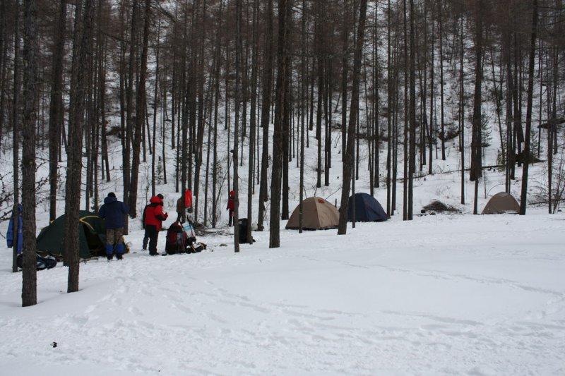 лагерь в Саянах