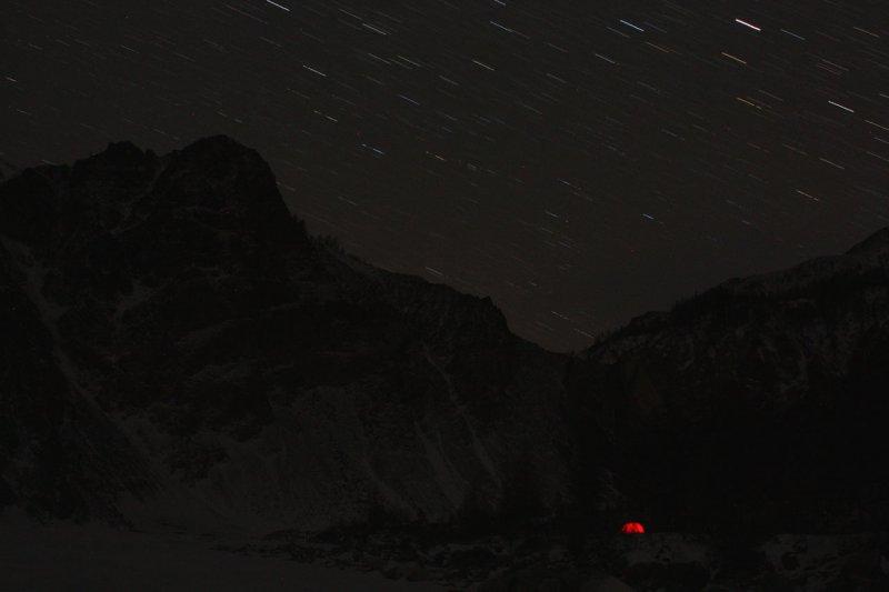 лагерь в ночи