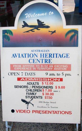 Центр авиации, Дарвин