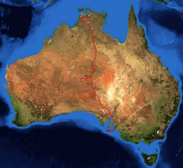 маршрут по Австралии