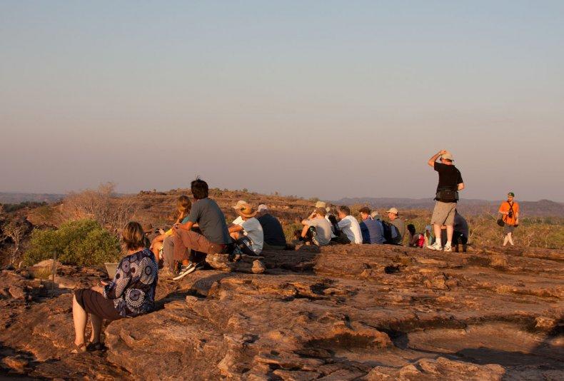 туристы на Ubirr