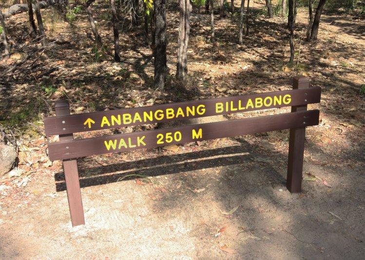 указатель на Anbangbang billabong (Kakadu NP, Australia)