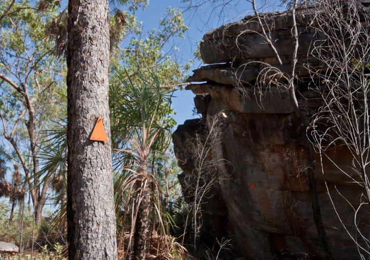 маркеры на тропе, Barrk sandstone bushwalk (Kakadu NP, Australia)