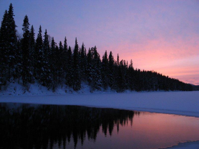 Закат над Олангой