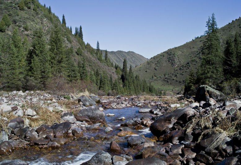ущелье Кегеты, Киргизия