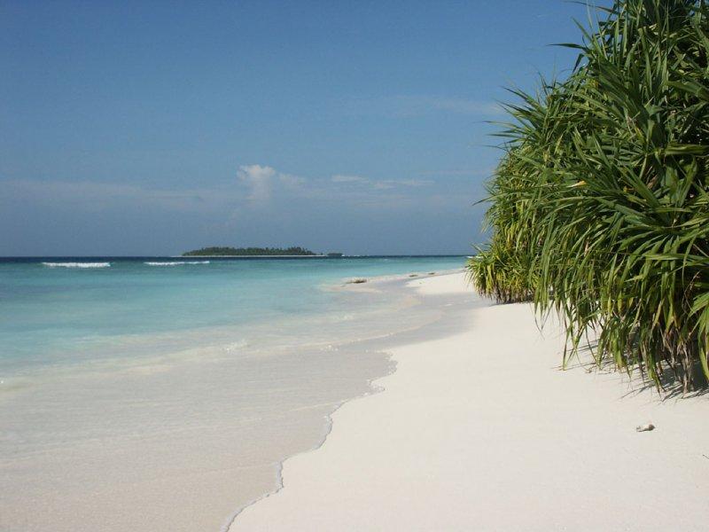 Белый песок Мальдив