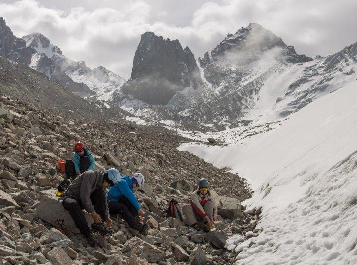 ледовые занятия (альплагерь Ала-Арча)