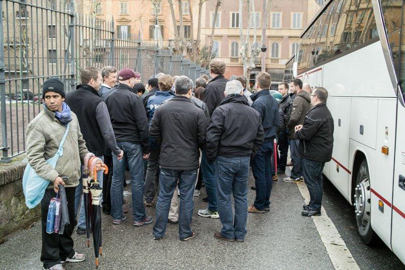 на экскурсии в Риме