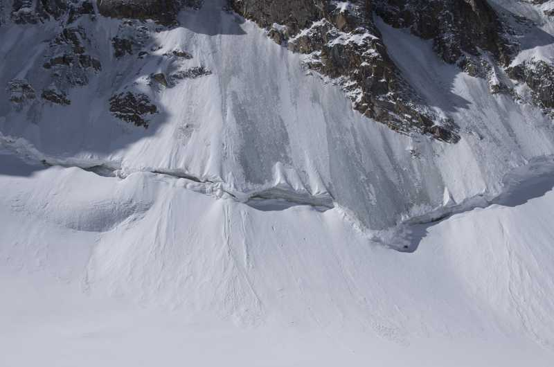 переход от льда к снегу (Киргизский Ала-Тоо)