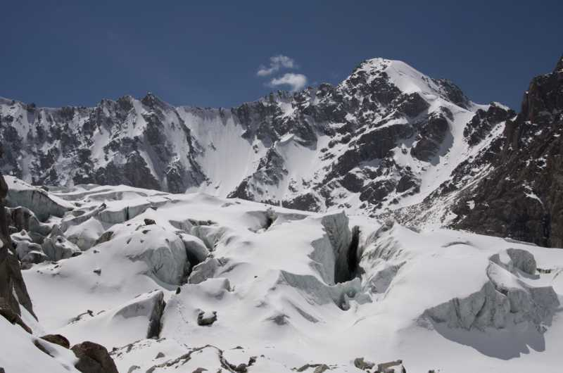 открытый Аксайский ледник