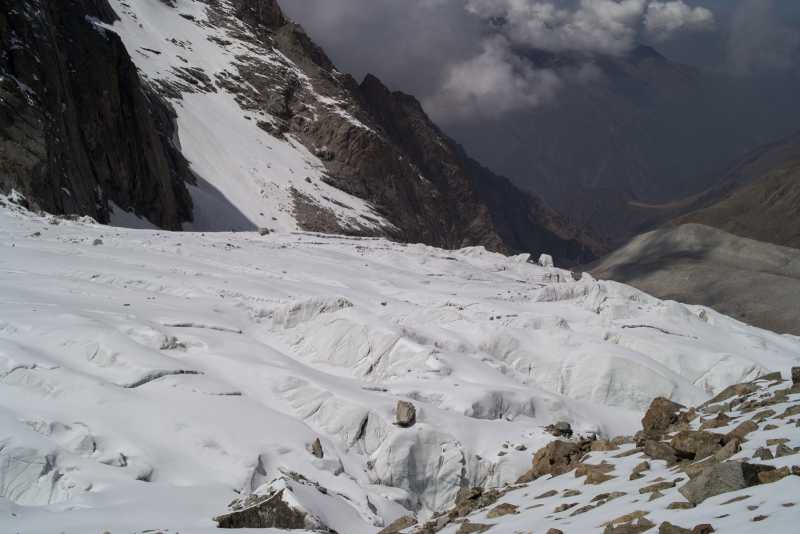 открытый Аксайский ледник (альплагерь Ала-Арча)