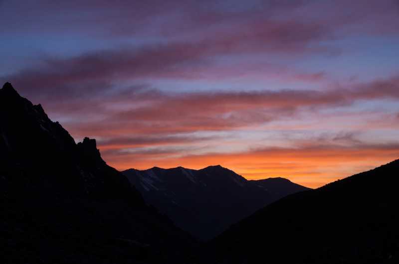 закат в горах (альплагерь Ала-Арча)