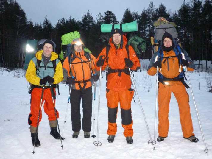 группа готова к выходу (Мещерский край, январь 2014)