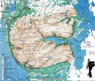 Карта Ловозерских тундр