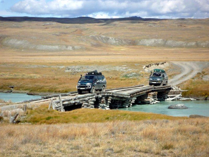 Переправа через реку Ак-Алаху