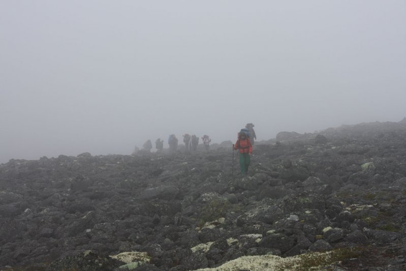 туман на перевале Эльморайок