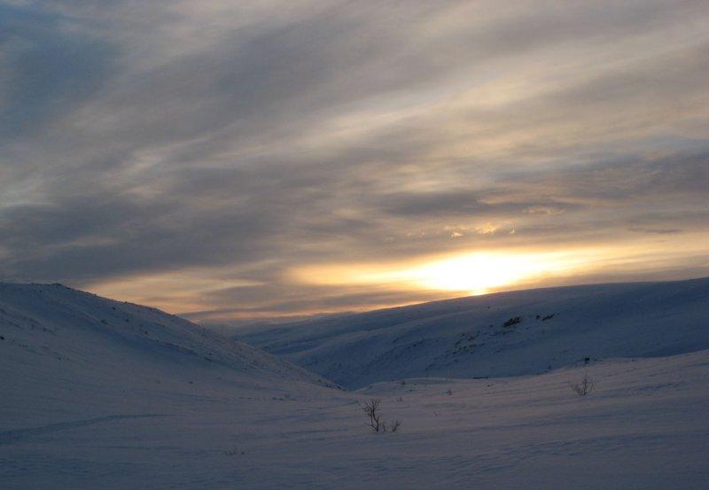 рассвет в Хибинах