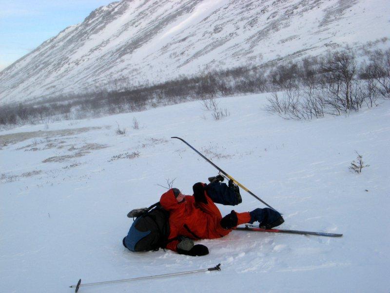 незадачливый лыжник