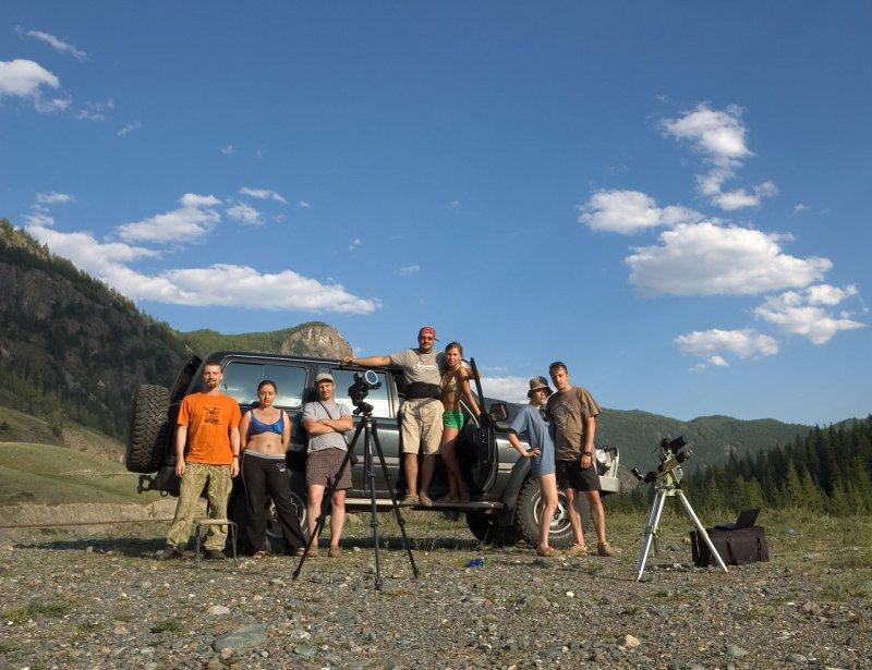 наша группа на наблюдениях затмения