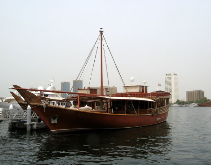 на набережной Dubai Creek