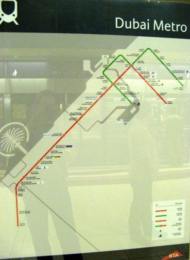схема метро Дубай