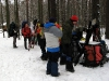 Тренировочный выход на лыжах
