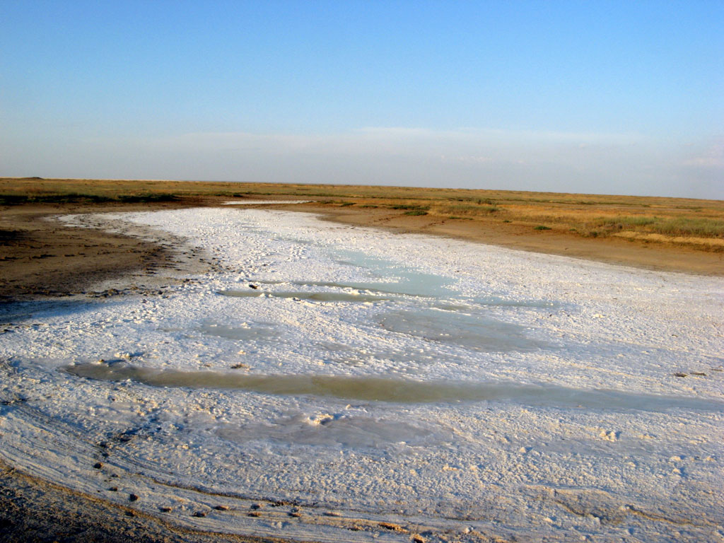 Солёное озеро в Калмыкии