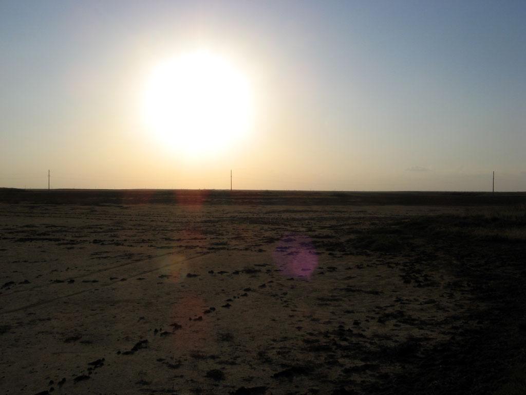 закат в Калмыкии