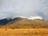Только что выпал снег в предгорьях Мунгун-Тайги